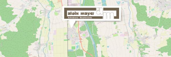 Ihr Weg zu Alois Mayer - Schreinerei und Baustoffe